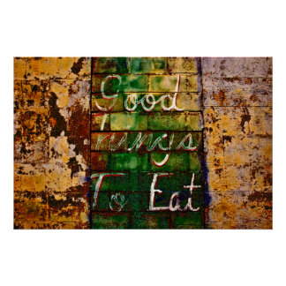 Good things to eat poster