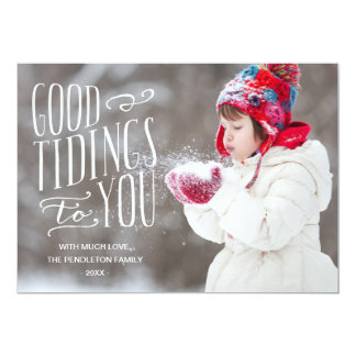 Good Tidings | Holiday Photo Card Personalized Invites