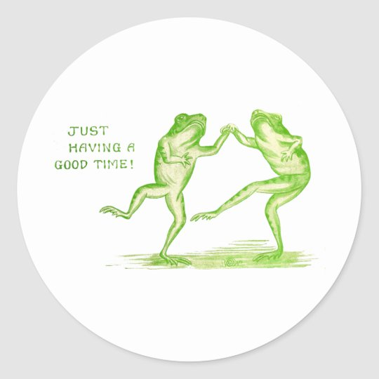 Good Time Frogs Classic Round Sticker