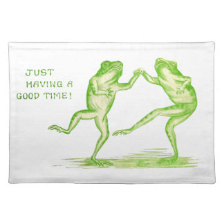 Good Time Frogs Cloth Placemat