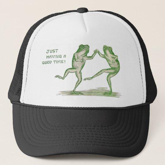 Good Time Frogs Dance Vintage Trucker Hat