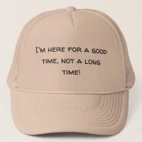 Good Time Novelty Hat