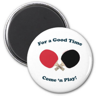 Good Time Ping Pong 2 Inch Round Magnet