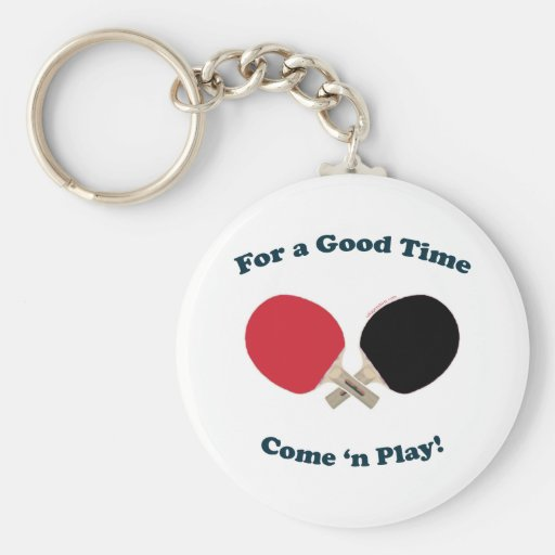 Good Time Ping Pong Basic Round Button Keychain