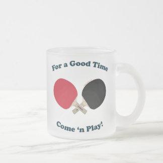Good Time Ping Pong Coffee Mugs