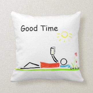 good time throw pillow