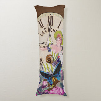 Good Time To Drink Vintage Collage Body Pillow