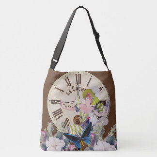 Good Time To Drink Vintage Collage Crossbody Bag