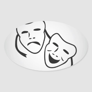 Good Times Bad Times Oval Sticker