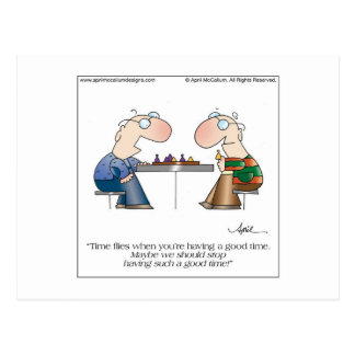 GOOD TIMES Cartoon Postcard by April McCallum