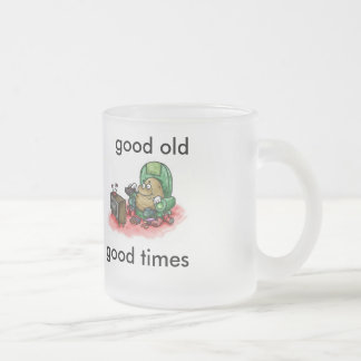 good times frosted glass coffee mug