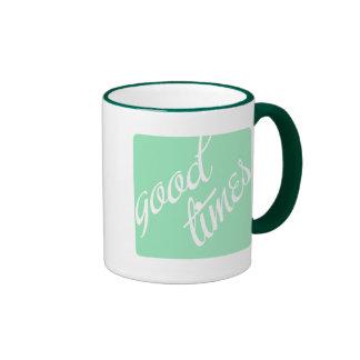 Good Times- Mint- Ringer Mug