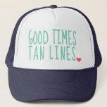 "Good Times Tan Lines Summer hat girls<br><div class=""desc"">cute hat for the summer for girls</div>"