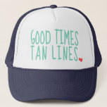 "Good Times Tan Lines Summer hat girls<br><div class=""desc"">cute hat for the summer for girls</div>"