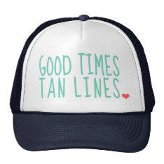 Good Times Tan Lines Summer Hat Girls at Zazzle
