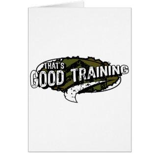 Good Training Cards