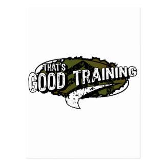 Good Training Post Cards
