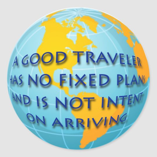 Good Traveler Classic Round Sticker