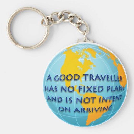 Good Traveller Basic Round Button Keychain