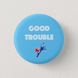 Good Trouble Donkey Round Pinback Button