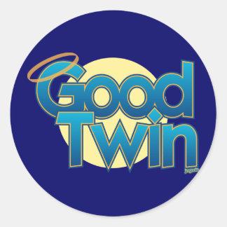 Good Twin Classic Round Sticker