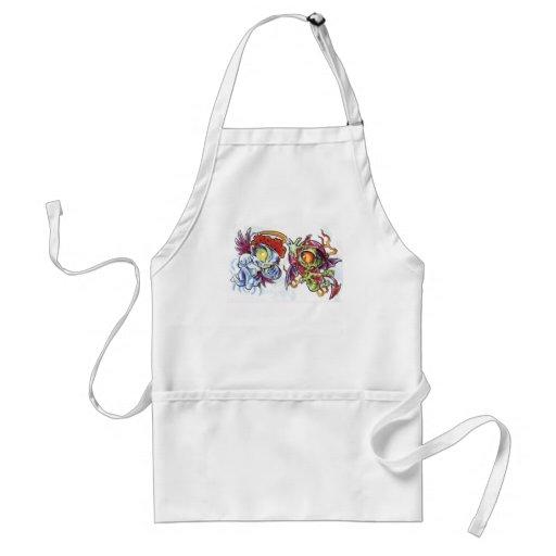 good v evil adult apron