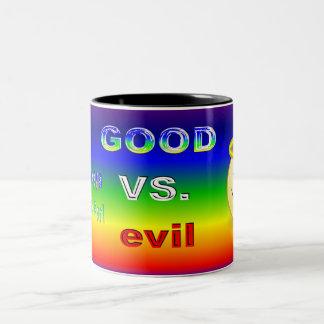 Good Verses evil Two-Tone Coffee Mug