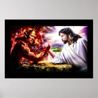 Good Versus Evil - Armageddon Arm Wrestling Poster