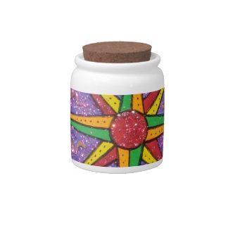 Good Vibe Mariner's Compass Mandala Candy Jars
