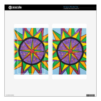 Good Vibe Mariner's Compass Mandala Decals For Kindle Fire