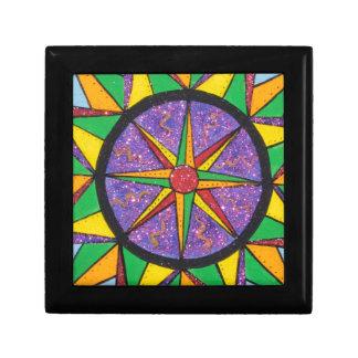 Good Vibe Mariner's Compass Mandala Keepsake Box