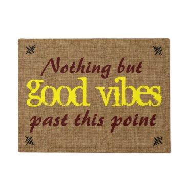 ShopByLove Good Vibe Positive Message Doormat