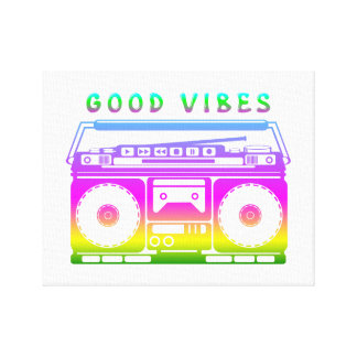 Good Vibes 80's Style Canvas Print