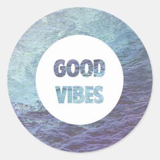 Good Vibes Classic Round Sticker