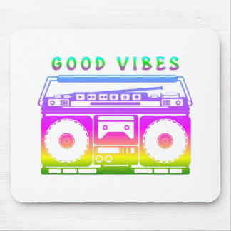 Good Vibes Colorful Stereo Stencil Mouse Pad