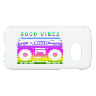 Good Vibes Colorful Stereo Stencil Samsung Galaxy S7 Case