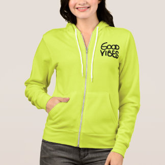 Good Vibes Handwriting (Choose Your Own Color) Hoodie