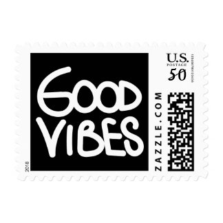 Good Vibes Handwriting (Choose Your Own Color) Postage