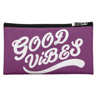 Good Vibes New Age Customizable White And Purple Makeup Bag