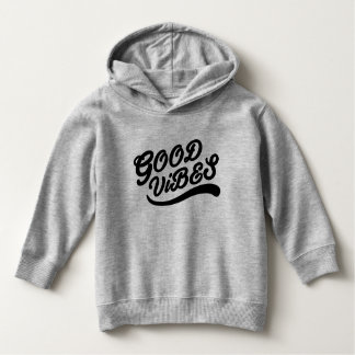 Good Vibes New Age Typography Black And Grey Hoodie