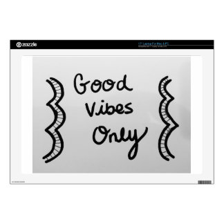 """Good Vibes Only 17"""" Laptop Decal"""