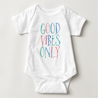 Good Vibes Only - Colorful Watercolor Typography Baby Bodysuit