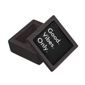 Good. Vibes. Only. Customizable Black And White Keepsake Box