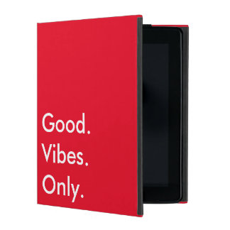 Good. Vibes. Only. (Customizable colors and text) iPad Cover