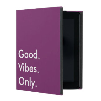 Good. Vibes. Only. (Customizable colors and text) iPad Folio Case