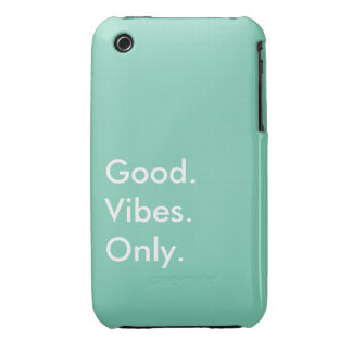 Good. Vibes. Only. Customizable White And Green iPhone 3 Case