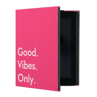 Good. Vibes. Only. Customizable White And Magenta iPad Covers