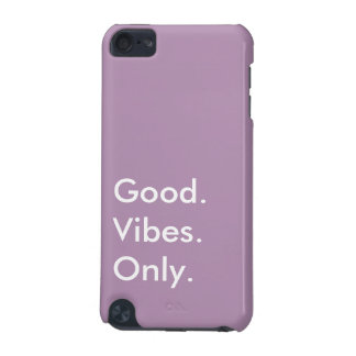 Good. Vibes. Only. Customizable White And Purple iPod Touch (5th Generation) Cover
