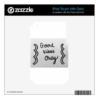 Good Vibes Only Decal For iPod Touch 4G
