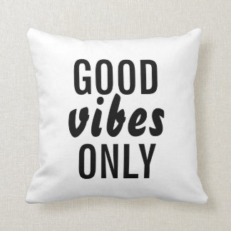 """""""Good Vibes Only"""" Decorative Throw Pillow"""